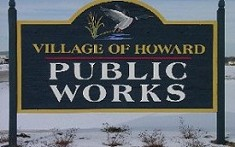 Village of Howard Public Works Sign